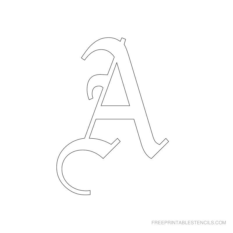Letters Stencils to Print Printable Old English Letter Stencils