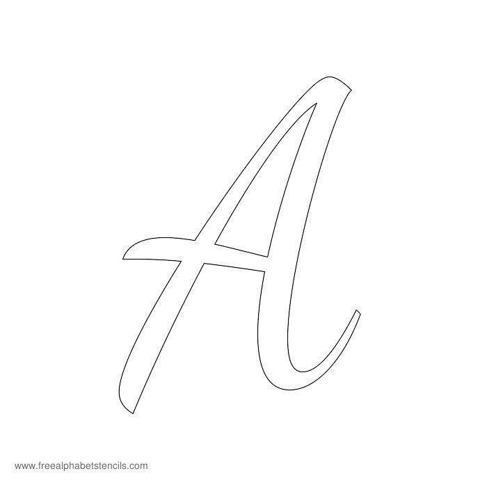 Letters Stencils to Print Read Article 1950s Casual Cursive Alphabet Stencils