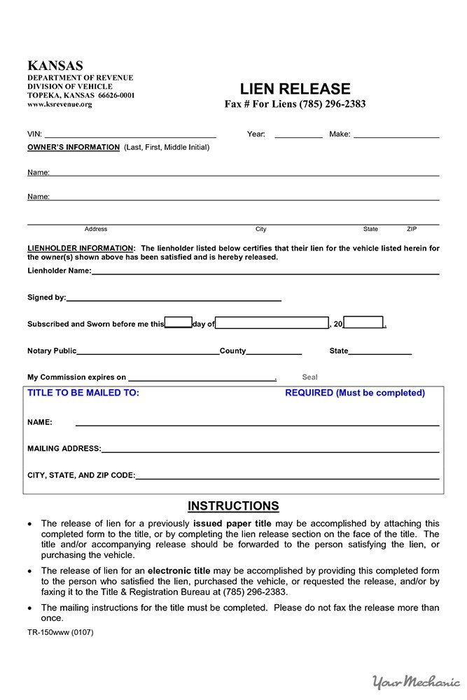 Lien Release Letter Template How to Find Out if A Car Has A Lien On It