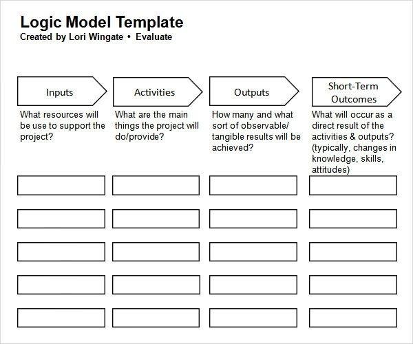 Sample Logic Model 11 Documents in PDF Word