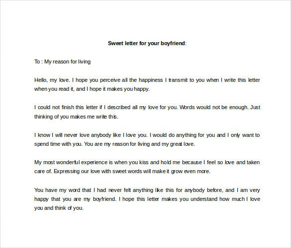 Love Letter to Fiance 9 Sample Love Letter to Boyfriend Doc Pdf