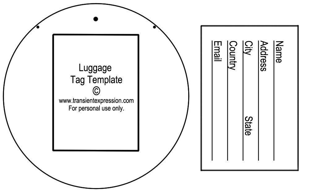 Luggage Tag Template Word Luggage Tag Template