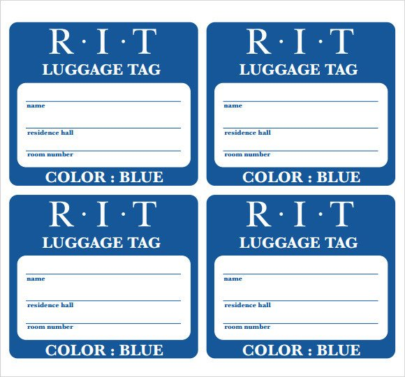 Luggage Tag Template Word Sample Luggage Tag Template 28 Free Documents In Pdf Psd