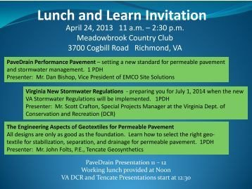 Lunch and Learn Invitations Gina Lunch & Learn