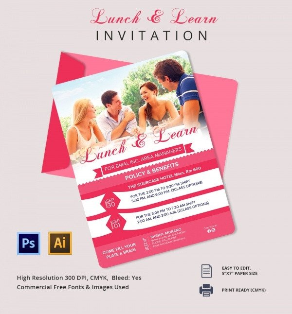 Lunch and Learn Invitations Lunch Invitation Template 25 Free Psd Pdf Documents
