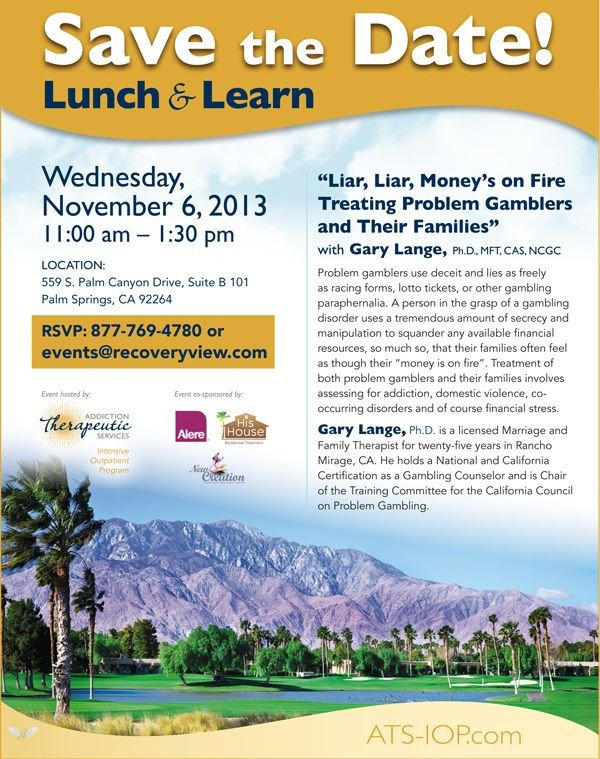 Lunch and Learn Invitations Nov 6 Lunch and Learn Recoveryview events