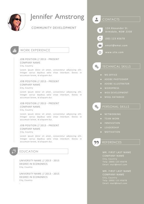 Resume Templates for Mac Also Apple Pages ready