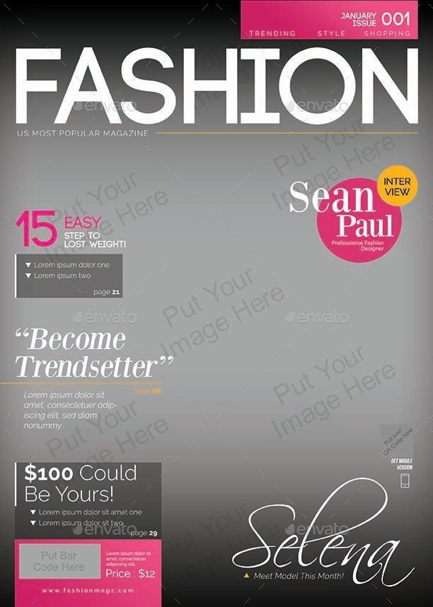 Magazine Cover Templates Free Magazine Cover Template