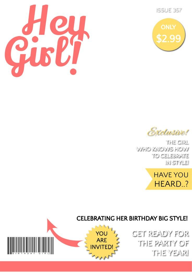 Magazine Covers Templates Free 31 Best Images About Birthday Party themes for Kids On
