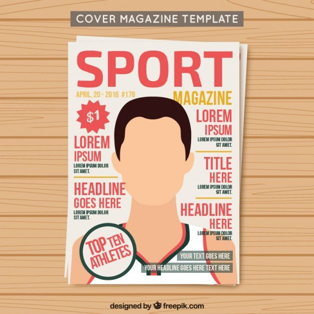Magazine Covers Templates Free Cover Sport Magazine Template Vector