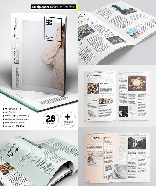 Magazine Layout Templates Free Download 30 Creative Magazine Print Layout Templates for Free
