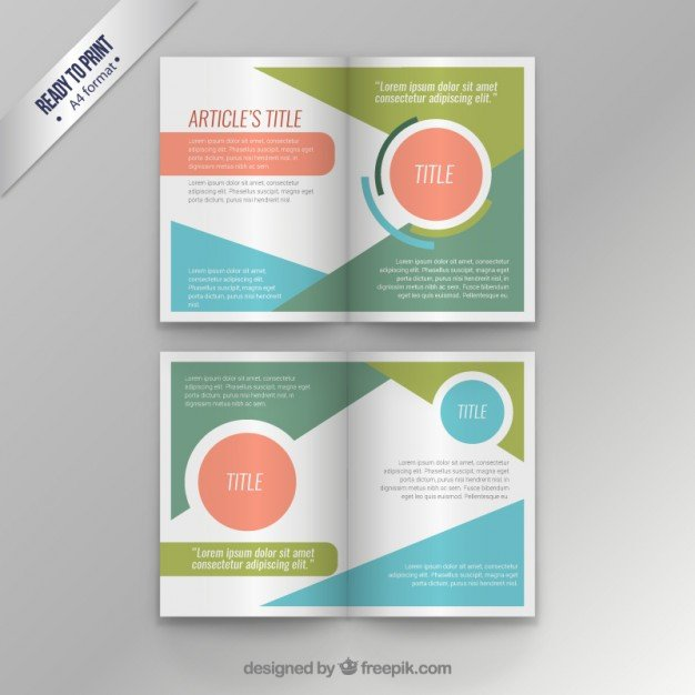 Magazine Layout Templates Free Download Colorful Modern Magazine Template Vector
