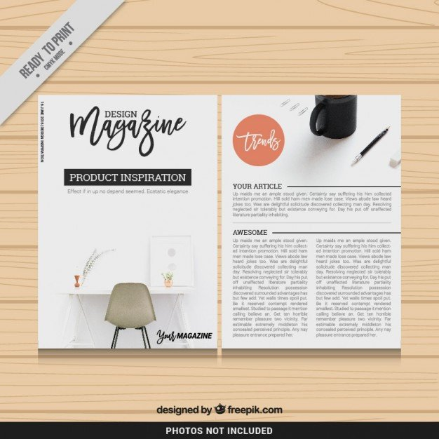 Magazine Layout Templates Free Download Design Magazine Template Vector
