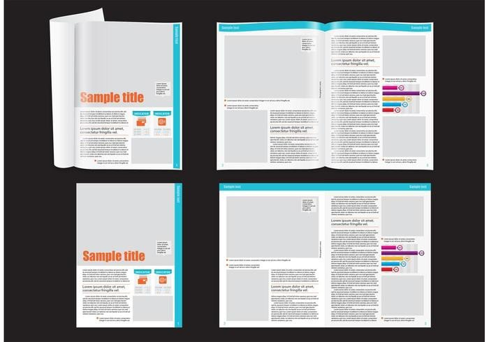 Magazine Layout Templates Free Download Financial Magazine Layout Template Download Free Vector