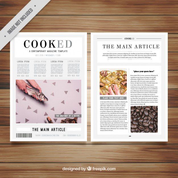 Magazine Layout Templates Free Download Magazine Template with Pictures Vector