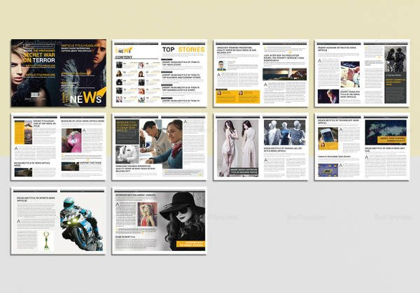 Magazine Template for Microsoft Word 30 Creative Magazine Print Layout Templates for Free