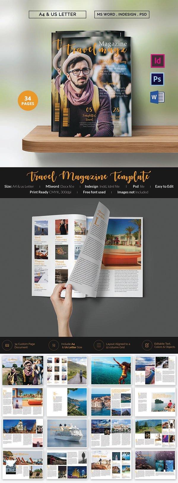 Magazine Template for Microsoft Word 55 Brand New Magazine Templates Free Word Psd Eps Ai