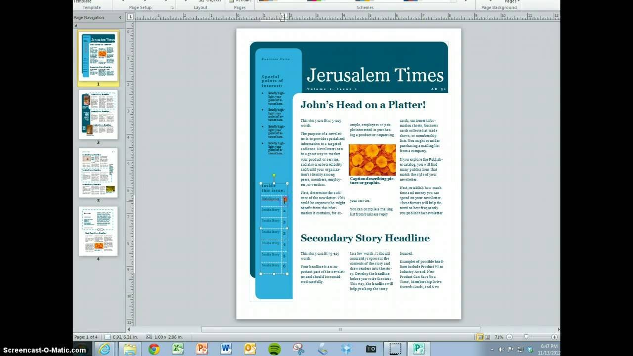 Magazine Template for Microsoft Word Create Your Magazine Content