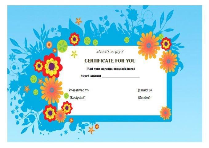 Mani Pedi Gift Certificate Template Manicure Pedicure T Certificate