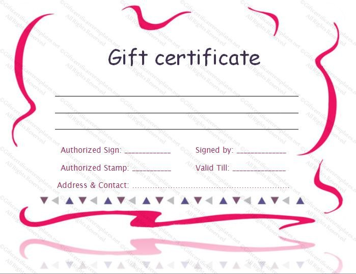 Mani Pedi Gift Certificate Template Printable T Certificate Template Gift Certificate