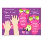 Mani Pedi Gift Certificate Template Spa Birthday Mani Pedi Party Invitation