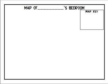 Map Key Template Map Of Bedroom with Map Key Preppies
