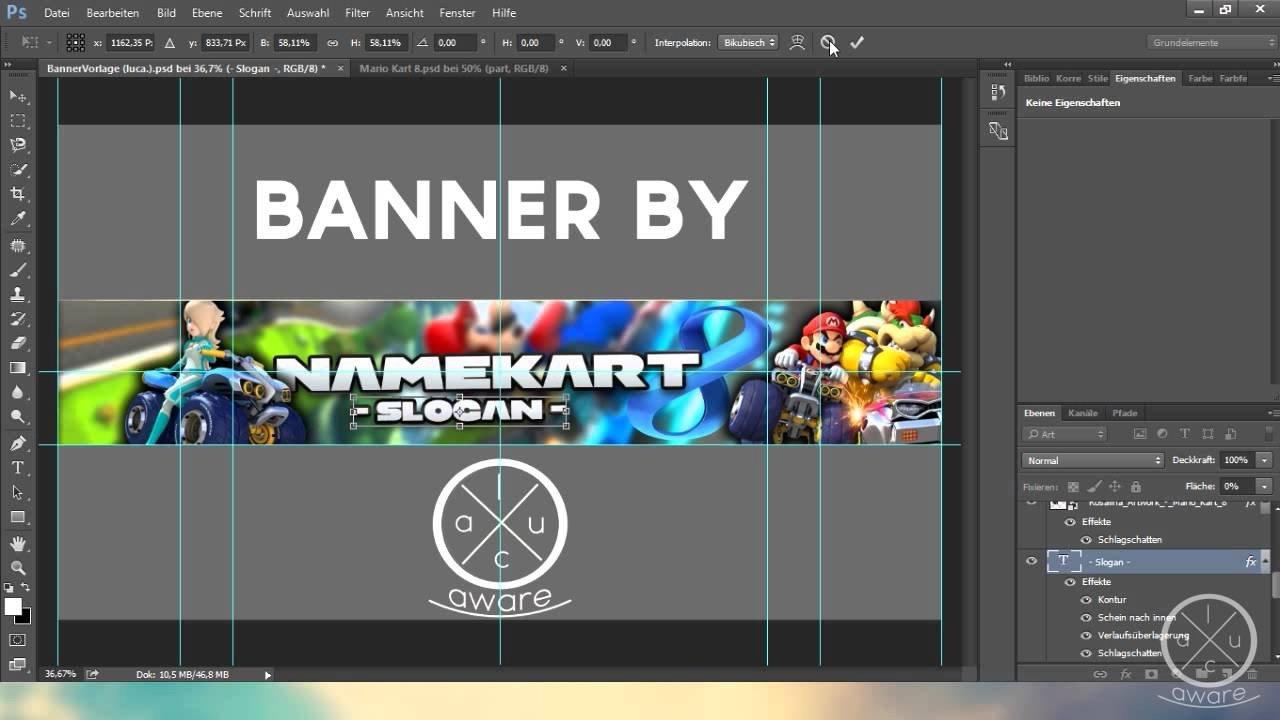 Mario Youtube Banner Mario Kart 8 Free Banner Template Download