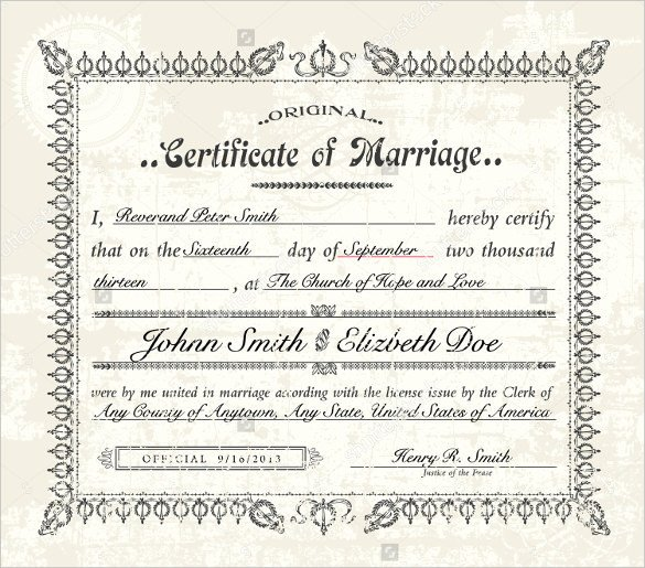Marriage Certificate Template Microsoft Word Marriage Certificate Template Microsoft Word