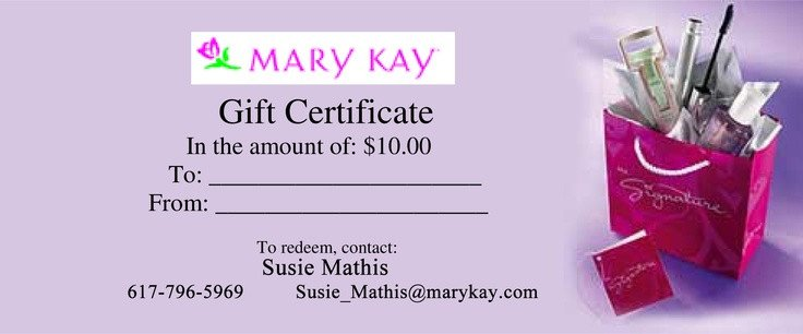 Mary Kay Gift Certificates Pdf 1000 Images About Gift Certificates On Pinterest
