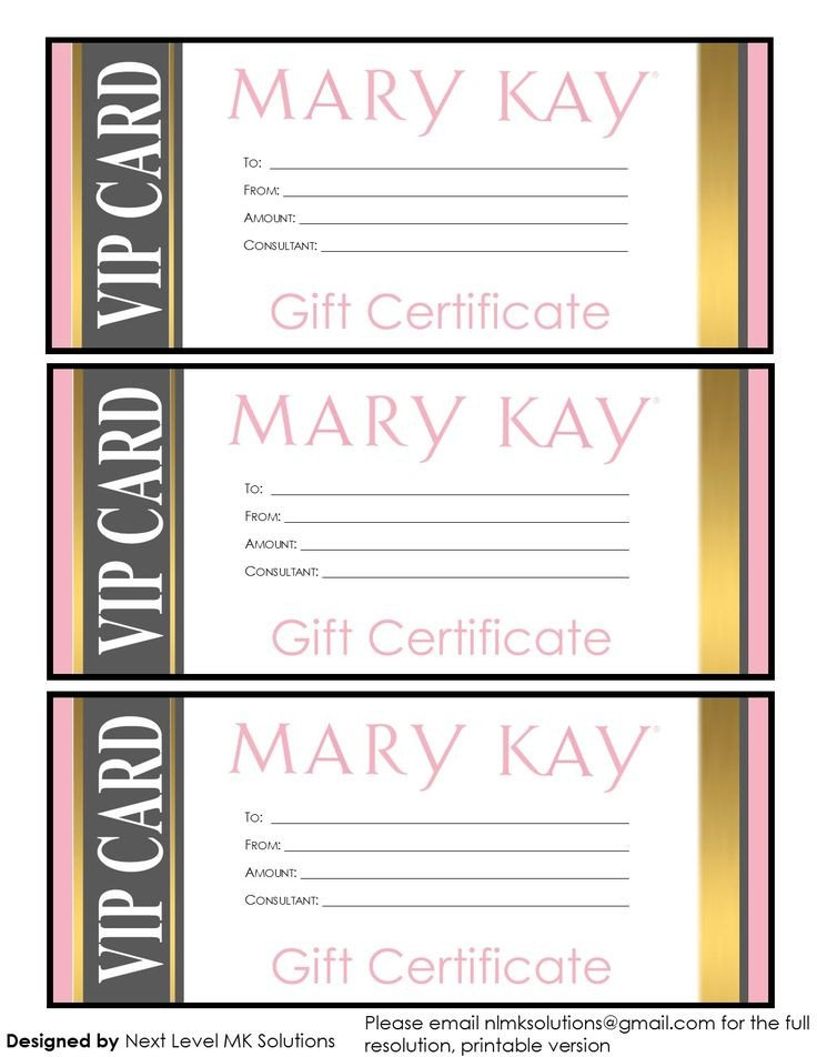 Mary Kay Gift Certificates Pdf 17 Best Images About Business Ideas On Pinterest