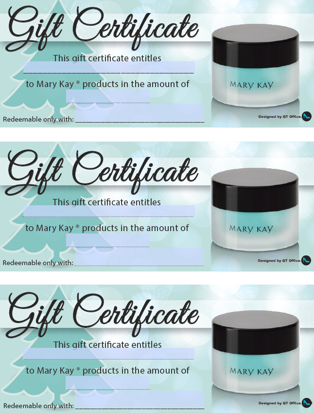 Mary Kay Gift Certificates Pdf Anne Hanson Mary Kay Sales Director Us Tc Gift Certificates