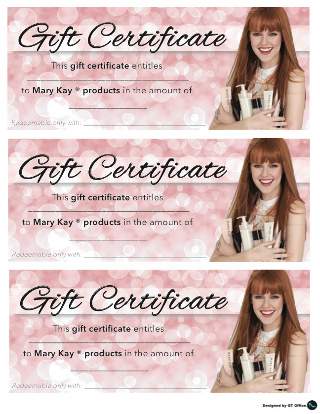 Mary Kay Gift Certificates Pdf Anne Hanson Mary Kay Sales Diretor Us Tc Gift Certificates