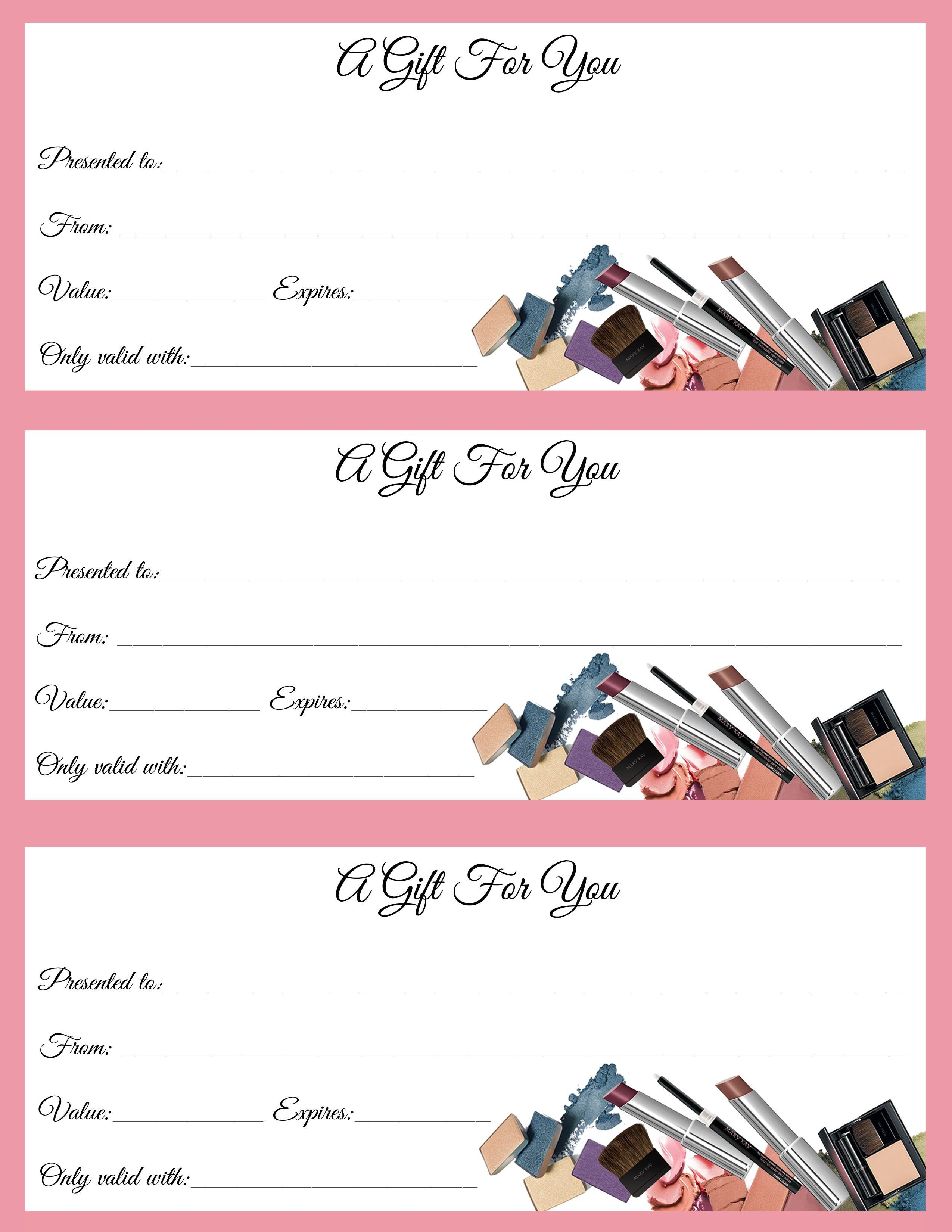 Mary Kay Gift Certificates Pdf Gift Certificates Just In Time for Call or Text to order