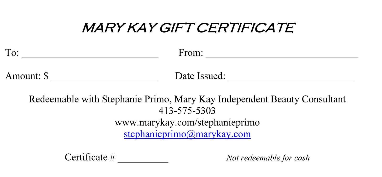 Mary Kay Gift Certificates Pdf Mary Kay 411 Mary Kay Gift Certificates