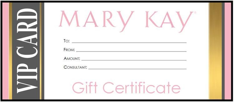 Mary Kay Gift Certificates Pdf Mary Kay Gift Certificate Download Gold Vip by