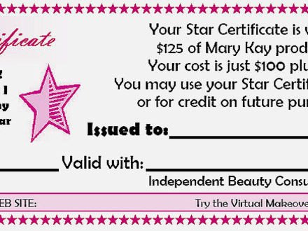 Mary Kay Gift Certificates Pdf Mary Kay Gift Certificates Pdf
