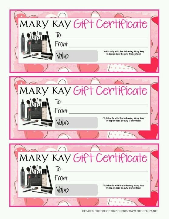 Mary Kay Gift Certificates Pdf Not Sure What to then Give them A Mary Kay Gift