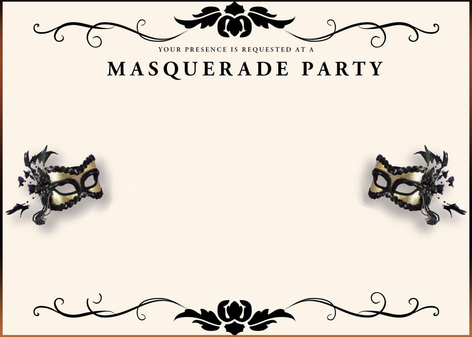 Masquerade Invitations Template Free Free Printable Masquerade Invitation Templates