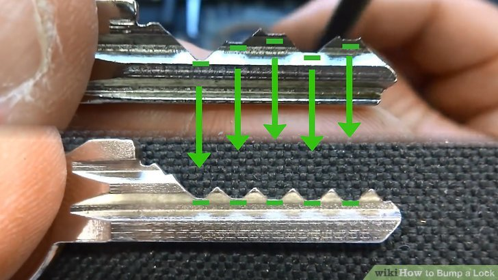 Master Lock Bump Key Template How to Bump A Lock 12 Steps with Wikihow
