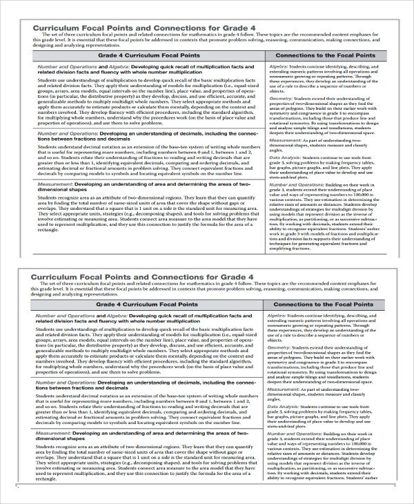 Math Lesson Plan Template Sample Math Lesson Plan Template 10 Free Documents