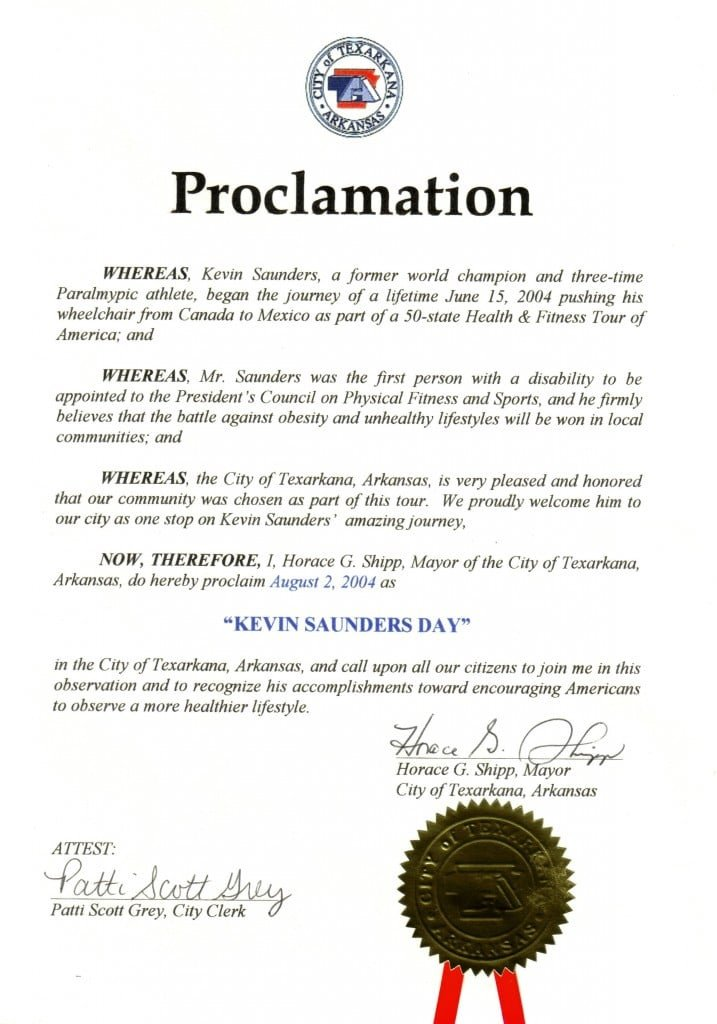 Mayoral Proclamation Template Flying Down Highway 71 to Shreveport Louisiana On Big