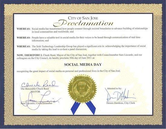 Mayoral Proclamation Template Mobile Marketing Group San Jose Las Vegas toronto