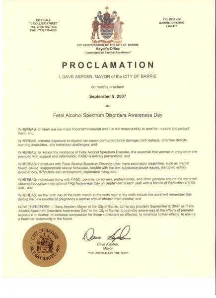 Mayoral Proclamation Template Proclamation – Fasd with Hope