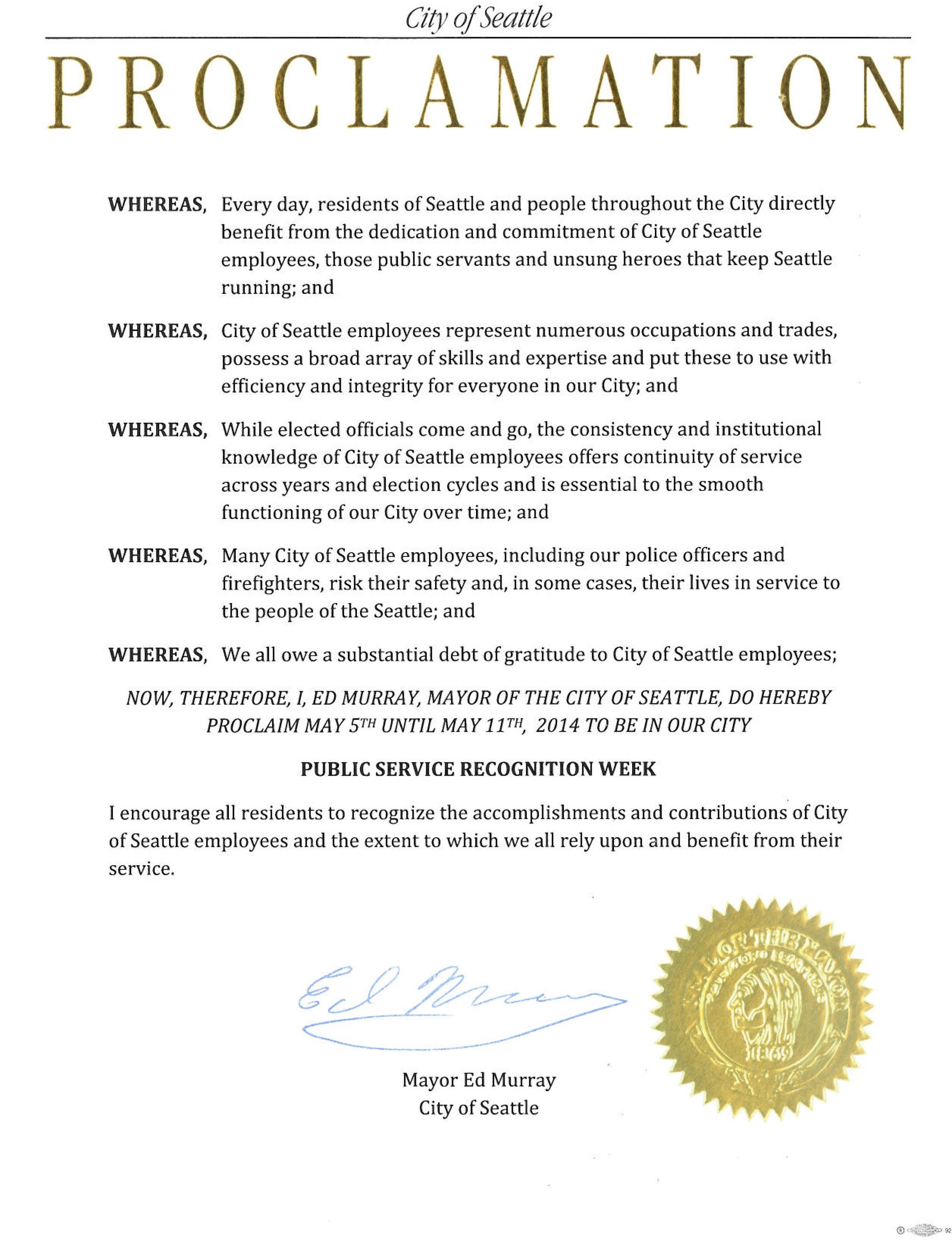 Mayoral Proclamation Template Proclamations Archives Mayor Murray