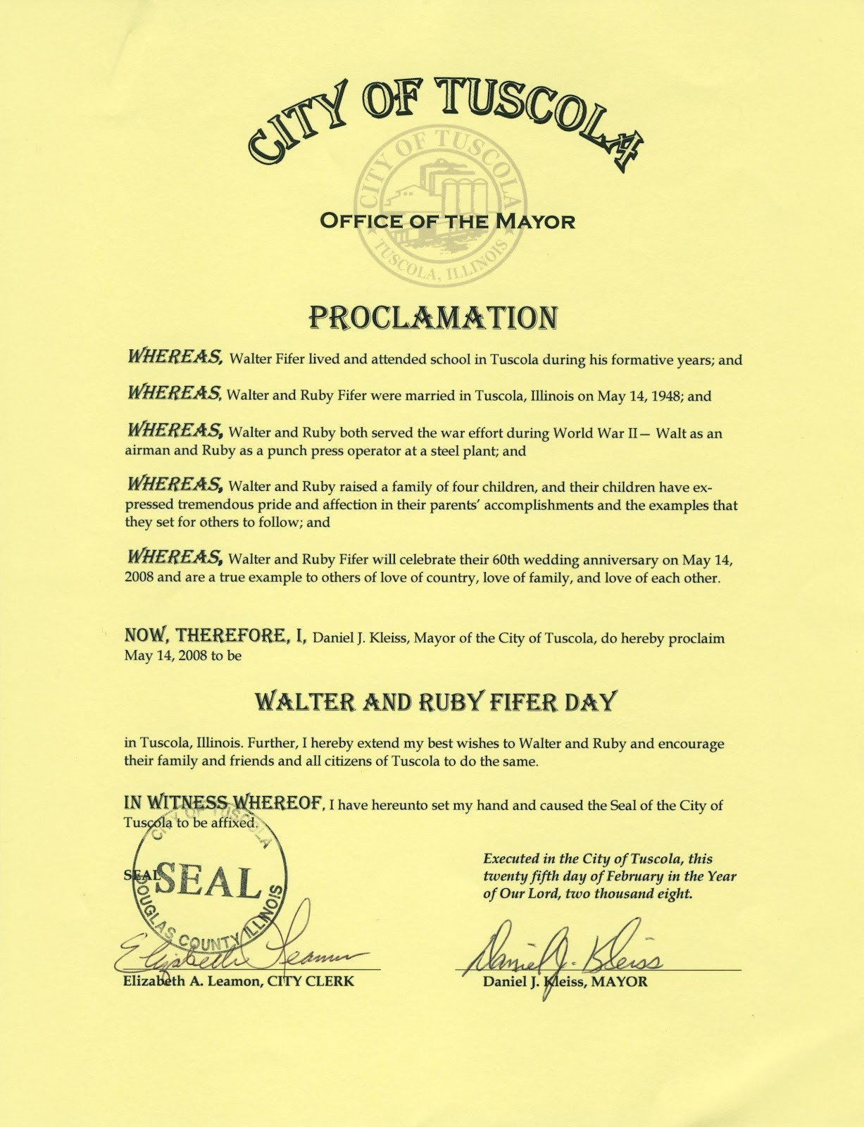 Mayoral Proclamation Template Ramblings the Book Of Love