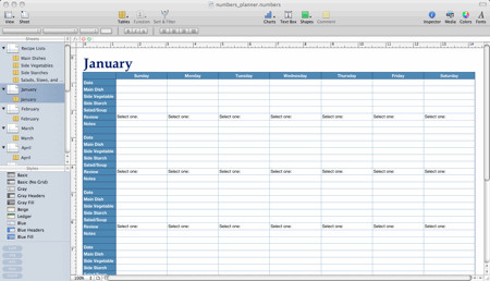 Meal Plan Excel Template Pennies and Pounds Numbers Template for Meal Planning