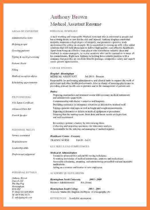 Medical assistant Resume Templates 7 Medical assistant Sample Resume