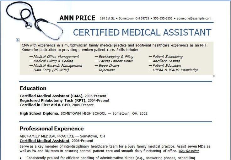 Medical assistant Resume Templates Medical assistant Resume Template