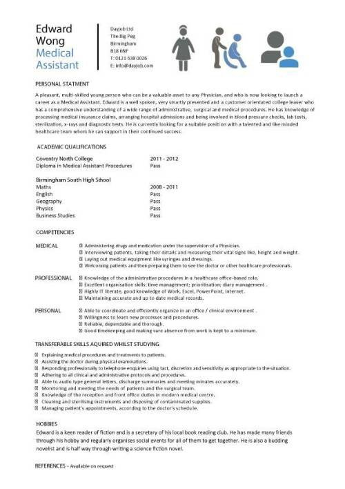 Medical assistant Resume Templates Student Entry Level Medical assistant Resume Template