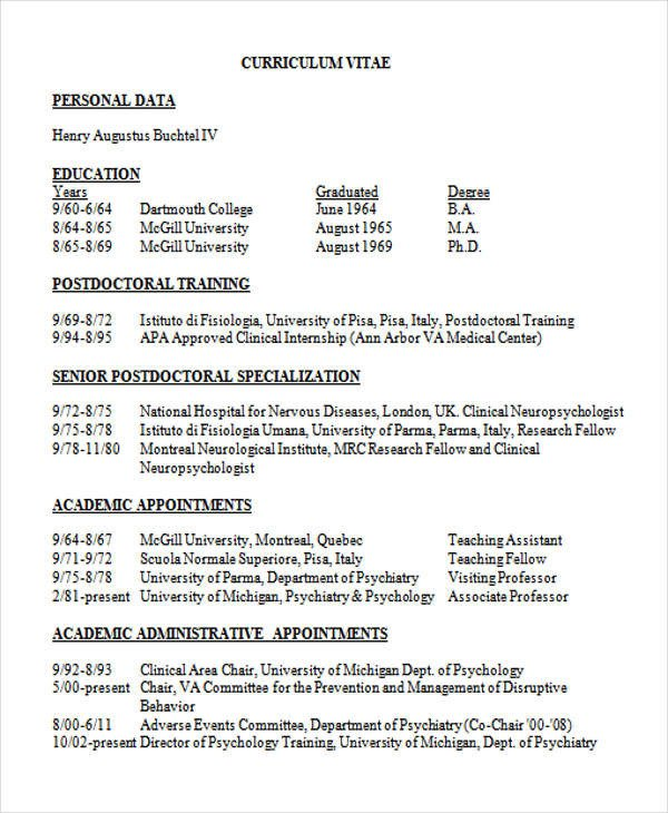Medical Curriculum Vitae Templates 10 Medical Curriculum Vitae Templates Pdf Doc